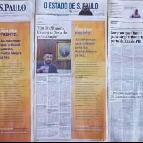 Porto Alegre: Prefeito tucano usa dinheiro público para fazer auto promoção ideológica até em jornais fora doRS