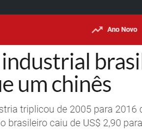 Vergonha: Trabalhador industrial brasileiro já ganha menos do que umchinês