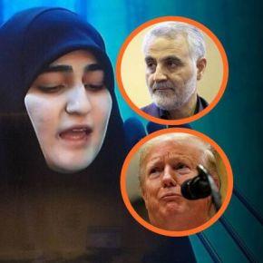 """Filha de Soleimani diz que Trump é louco e manda recado: """"os EUA terão 'dia escuro' (…) com destruição de suascasas"""""""
