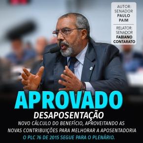Comissão do Senado aprova mudança de regime previdenciário paraaposentados