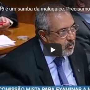 A MP 905 (Carteira Verde Amarela) é o Samba da Maluquice diz Paim no Senado(Vídeo)