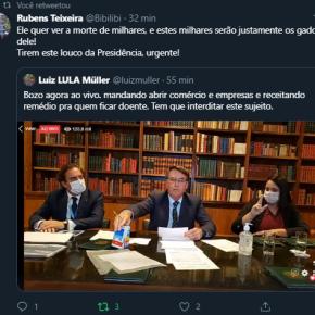 """""""O presidente sou eu"""", diz Bolsonaro sobre fala de Mourão em defesa do isolamento. Presidente também receitouremédio"""