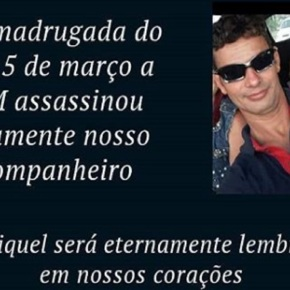 MTST denuncia assassinato de militante pela PM de MinasGerais