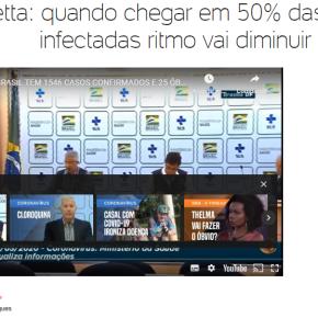 Enquanto Bolsonaro fala de remédio que não cura, Ministro diz que 50% dos brasileiros serãocontaminados