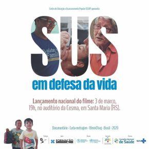 """CNS lança documentário """"SUS em Defesa da Vida"""" de GuilhermeCastro"""