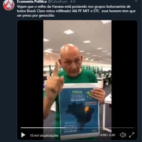Crime: Em vídeo, empresário ameaça trabalhadores e faz pouco caso do CoronaVírus