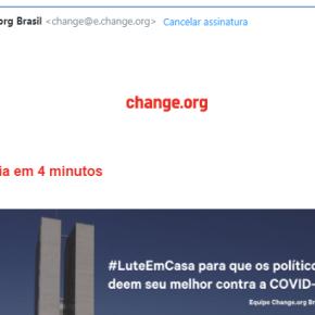 Site de Abaixo Assinados virtuais usa CoronaVírus pra disseminar campanha de criminalização dapolítica