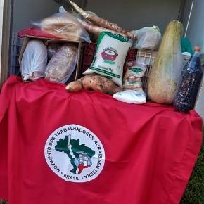 Sem Terra de Manoel Viana (RS) doam alimentos saudáveis em tempos deCoronavírus