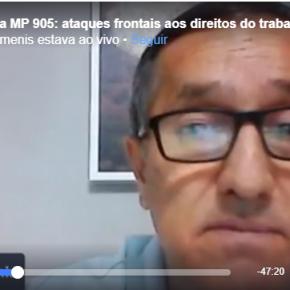 Bancários também são duramente atingidos pela MP 905 , denuncia Presidente do Sindicato(Vídeo)