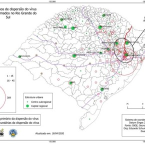 Grupo de pesquisa da UFPel mapeia principais rotas de dispersão do vírus no Rio Grande doSul