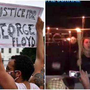"""""""Estranho ver isso em noite de protestos raciais"""", diz jornalista dos EUA sobre ato bizarro noBrasil"""