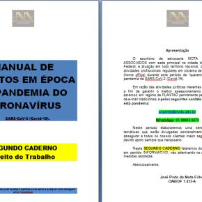 """Escritório de Advocacia lança """"MANUAL DE DIREITOS EM ÉPOCA DE PANDEMIA"""" e disponibiliza gratuitamente nas redes. Acesseaqui"""