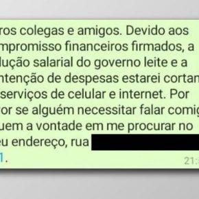 No RS, Professor faz bico e corta internet e telefone para sobreviver diante dos cortes do Governo do Estado no seuContracheque