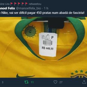 """A melhor do Twitter hoje: """"Alô Nike, vai ser difícil pagar 450 pratas por um Abadá de fascista!"""""""