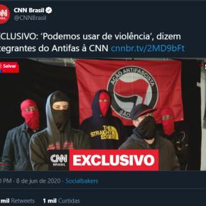 """As narrativas alienígenas que inebriam a esquerda: """"Podemos Usar de Violência"""", dizem Antifas ementrevista"""