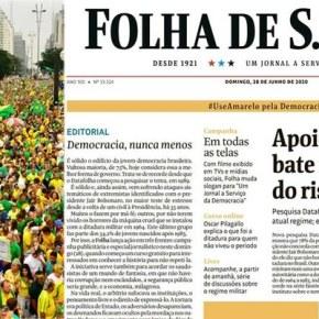 """Segundo editorial da Folha, Patos amarelos, incluindo os da """"esquerda"""", devem voltar as ruas e serem tolerantes comBolsonaro"""