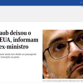 Ministro de Bolsonaro, Weintraub usa Passaporte diplomático pra se refugiar nos Estados Unidos. Será que vai pedir asilo aoTrump?