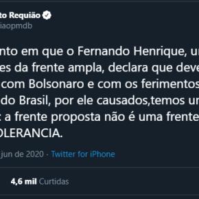 """"""" Stop Bolsonaro """"? Pode ser, mas não por reuniões em """"casas de tolerância"""", como mostraRequião"""