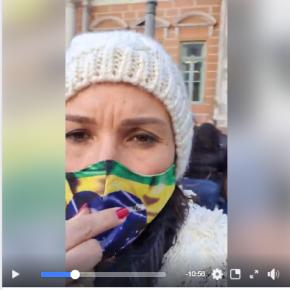 Hipocrisia explicita: Nádia e bolsonaristas protestam contra  Marchezan na frente da Prefeitura de Porto Alegre(Vídeo)