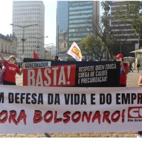 Ato pela vida e emprego em Porto Alegre defende impeachment deBolsonaro