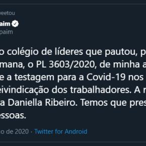 TESTAGEM EM MASSA PARA COVID-19 DE TRABALHADORES NAS EMPRESAS PODE SER APROVADO NOSENADO