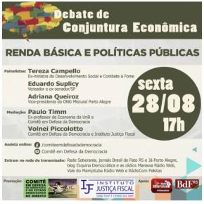 Tereza Campello e Eduardo Suplicy falam sobre Renda Básica, Bolsa Família e Política Sociais, nesta Sexta-Feira -Ao Vivo, 17horas