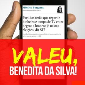 Por iniciativa da Deputada Benedita Da Silva, verba específica pra candidaturas negras já vale em 2020, garanteSTF