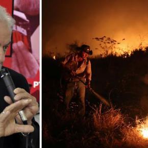 """Lula: """"por que nossos 60 mil soldados não combatem o fogo noPantanal?"""""""