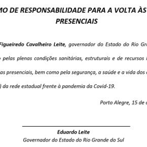 No dia do Professor 15/10, CPERS entrega Termo de Responsabilidade para o Governadorassinar