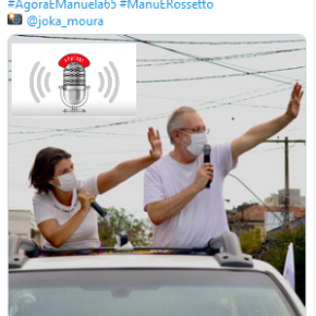 Manuela fala sobre o fim de semana da campanha mostra o caminho pro futuro de Porto Alegre. Clique eouça: