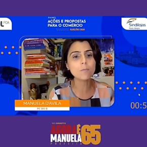 Em Painel com Empresários de Comércio, Manuela D'Ávila mostra que com ela, Porto Alegre estará em boas mãos (Assista oVídeo)