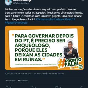 """De 2004 pra cá, Melo  foi Vice do Fortunatti e exerceu como Prefeito, mas diz que """"PT deixou cidade emruínas"""""""