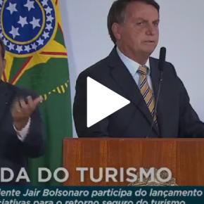 """Bolsonaro quer guerra contra EUA de Biden: """"Quando acaba diplomacia, a Saliva, entra a pólvora""""(Vídeo)"""