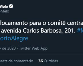 Porto Alegre: Movimento de Melo comprova que origem do golpe contra Fortunatti não foiTRE-RS