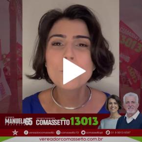 """Mensagem da Manuela para os porto alegrenses para a reta final das eleições: """"Espalhar a Esperança!"""" (Vídeo)"""