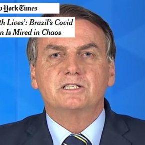New York Times: Governo Brasileiro brinca com vidas e país está atolado nocaos