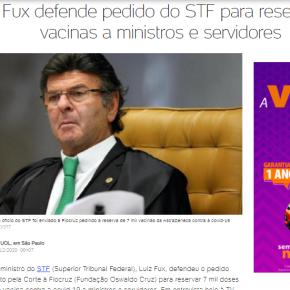 AO EXIGIR PRIVILÉGIO NA FILA DA VACINA, STF SÓ REAFIRMA A RAZÃO DO GOLPE DE2016