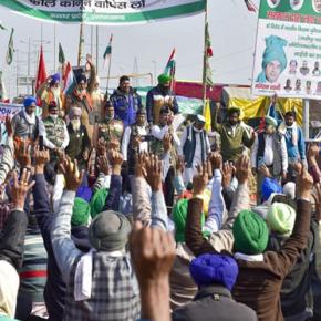 Agricultores indianos protestam contra reforma agrária do governo que só beneficiaempresas