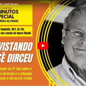 """Em entrevista ao Ópera Mundi Zé Dirceu fala da Conjuntura e sugere """"giro estratégico"""" do PT(Assista)"""