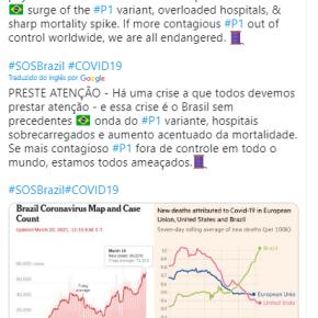 Brasil já é ameaça ao mundo diz epidemiologista renomado sobre o descontrole da Pandemia noPaís