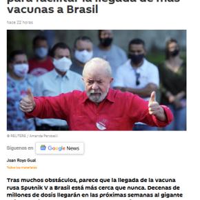 Mídia mundial vê Lula trabalhando para garantir vacina para os brasileiros diante da omissão deBolsonaro