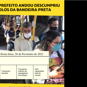 COVID-19: Ao Invés de fiscalizar, Prefeito de Porto Alegre anda em ônibus que descumpre a lei e ainda publica a foto nasredes