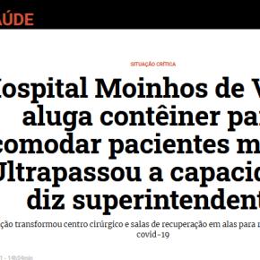 Porto Alegre / COVID-19: Hospital Moinhos de Vento aluga contêiner para acomodar pacientesmortos