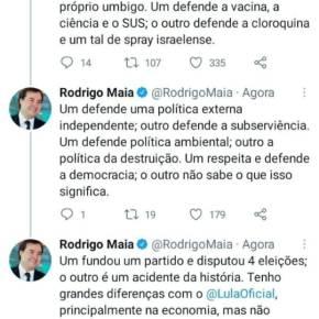 """Sobre """"inimigos"""" e """"amigos"""": Enquanto Ciro ataca o PT e os petistas, Rodrigo Maia elogiaLula"""