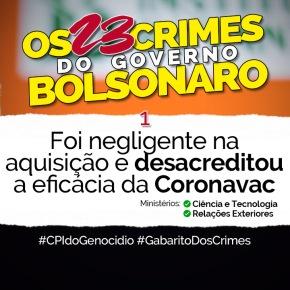 COVID-19: Governo reconhece 23 Crimes e publica planilha. Buscam Justificativa para a matança de 400 milpessoas!!
