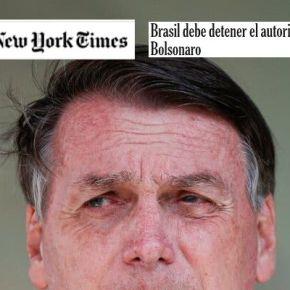 Brasil deve deter o autoritarismo de Bolsonaro, diz New York Times na edição do dia7/04