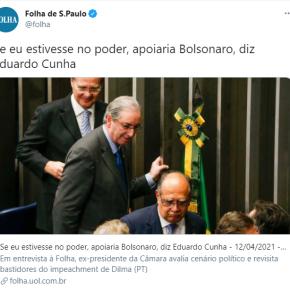 """#VergonhaAlheia: Eduardo Cunha e empresários gaúchos, juntos em apoio a Bolsonaro """"contra o que tinhaantes"""""""