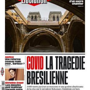 Covid-19: Mídia mundial vê o Brasil como um suicida conduzido para a morte por um dirigenteirresponsável