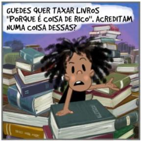 """Por que querem taxar Livros, mas não  taxam os super-ricos? """"Quem não lê, mal fala, mal ouve, mal vê!"""", dizNiara"""