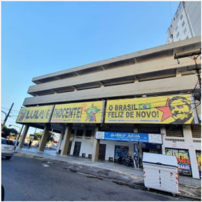 """O """" Triplex """" de verdade do Lula em Porto Alegre, visível ao lado do Largo Zumbi dosPalmares"""